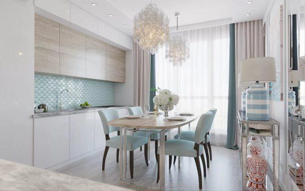беспроигрышным вариантом можно назвать использование штор в пастельных тонах;