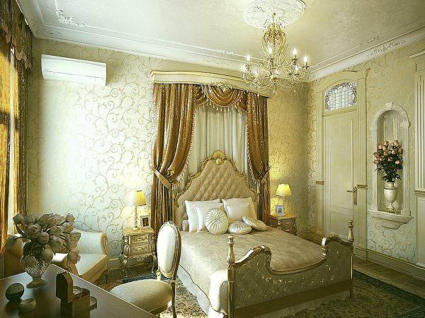 сли дополнить классический дизайн грамотно спланированным освещением, то маленькая спальня может превратиться в по-настоящему королевскую.