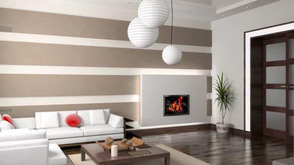 Больше дизайнеры склоняются к тому, что в осовремененном интерьере необходимо комбинировать одновременно несколько разновидностей настенных покрытий для одной комнаты.
