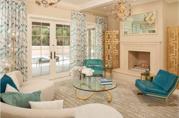 Стильные обои в гостиную 2019 поражают не только своей цветовой гаммой, но и оригинальной фактурностью.