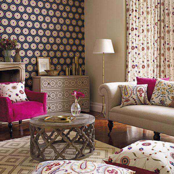 Современные текстильные обои изготавливаются на основе натуральных материалов.