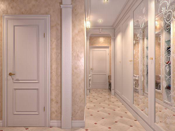 Самый дешевый и практичный вариант для отделки стен – обои.