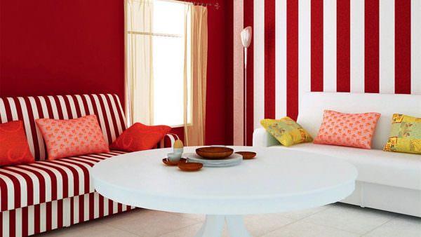 Сделайте все стены одного цвета, а на одной сделайте темный, светлый или яркий акцент, в соответствии с другими поверхностями.
