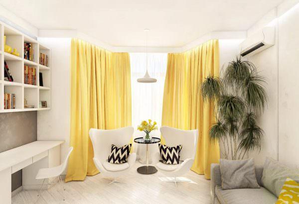 Медово-желтый. Теплые оттенки добавят солнечного света и отлично подойдут для помещений любого назначения.