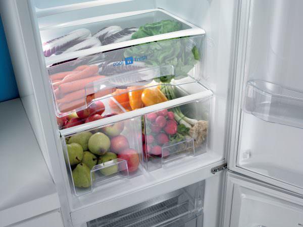 • Зона свежести – присутствует только в современном холодильнике. В специальном контейнере поддерживается температура от +6 до +8 градусов. Здесь лучше оставлять зелень.