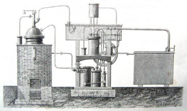 В 1874 году К.Линде изобрел первую холодильную машину с одним компрессором, устройство использовалось в сфере промышленности и для перевозки продуктов
