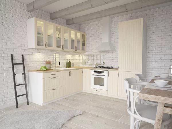 Белый цвет подойдет для маленькой кухни в скандинавском стиле и для большой студии он тоже будет уместен.