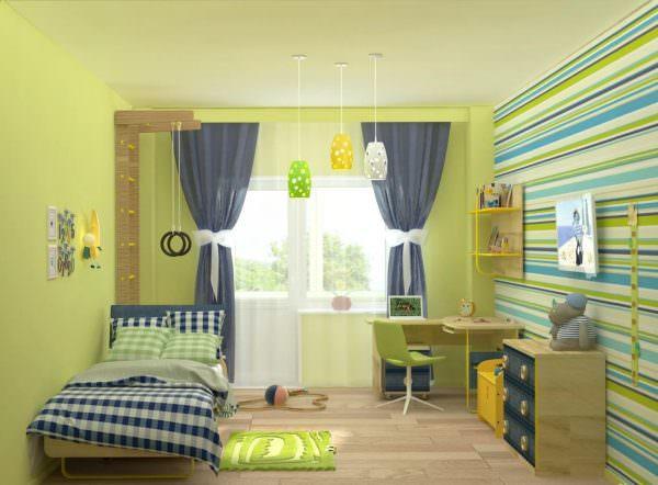 Для любителей новых идей лучше всего обустроить детскую с помощью натуральных и интересных предметов искусства.